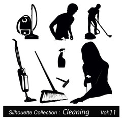Vector illustration.Housework and Cleaning