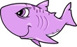 Tough Shark Vector Illustration