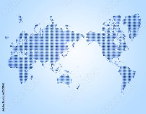 Staande foto Wereldkaart ドットの世界t図
