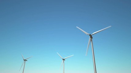 Wind Turbines, looping animation