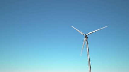 Wind Turbine, looping animation