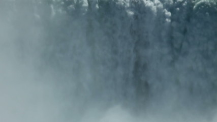 Body water closeup with mist rising