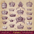vector set: crowns