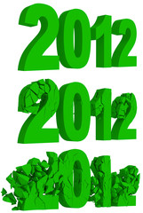 Crumbling and destruction of the year 2012