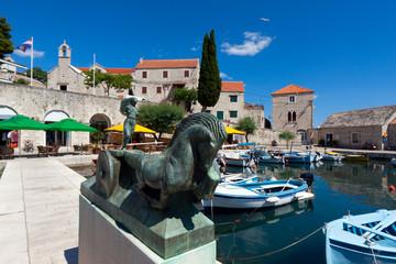 Harbor port bol town in europe, croatia, island brach