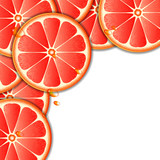 Background with grapefruit slice