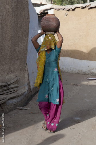 Indian Woman carring water