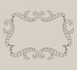 Vector vintage baroque border frame