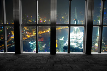 Shanghai scenery looking out the window