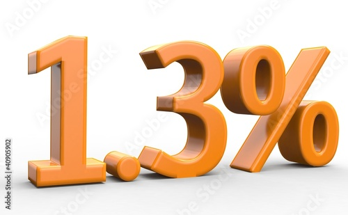1.3 % 3d Schrift orange