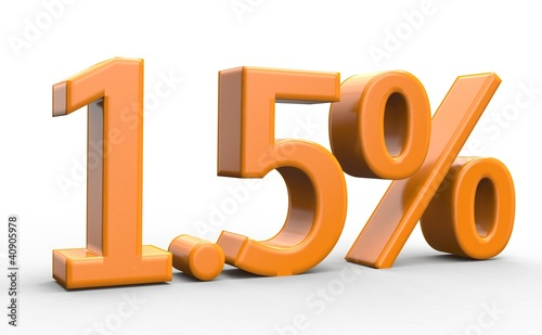 1.5 % 3d Schrift orange