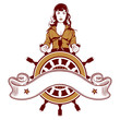 woman sailor emblem
