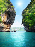 Fototapety rocks and sea in Krabi Thailand