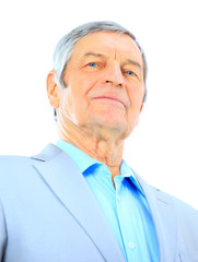Portrait nice businessman at the age of. Isolated on