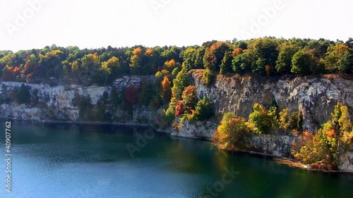 Lake at autumn with colorful trees