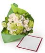 Mazzo fiori con biglietto