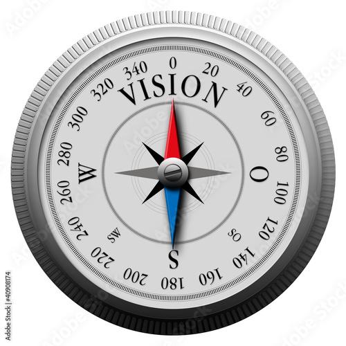 Leinwandbild Motiv Kompass_Vision