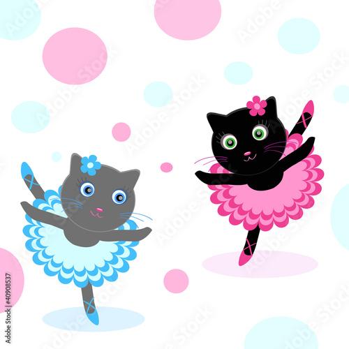 In de dag Katten ballet-dancers