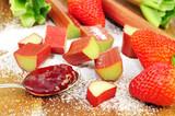 Rhabarber-Erdbeermarmelade