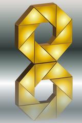 Goldband Spiegelung