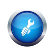 hand with spanner blue icon