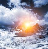 3d Ice desert poster