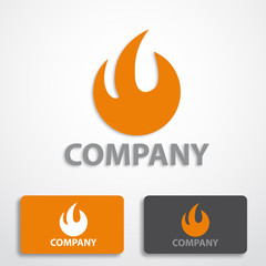 Stylized logo fire # Vector