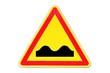 Panneau de signalisation temporaire ' dos d'âne '