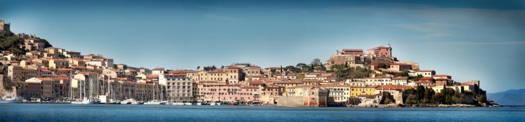 Veduta di Portoferraio ( isola d'Elba )