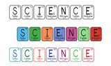 Periodic table elements - science buttons