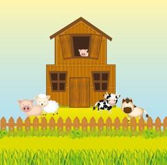 Farm with animals