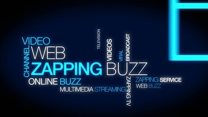 Web zapping buzz web tv tag cloud animation video