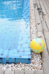 swimming pool and ball