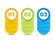 One two three - vector progress icons