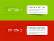 Set of Colorful Vector Sample option cards