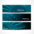 abstract new shiny header vector set