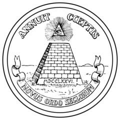 Web Art Design Second Great Seal USA United States America 100