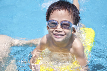 happy boy in Swimming Pool