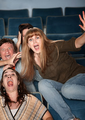 Overreacting Teen in Theater