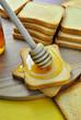 Постер, плакат: Fette biscottate con miele