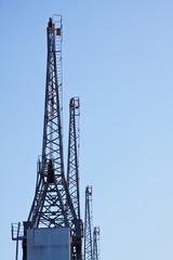 Row of Dockside Cranes