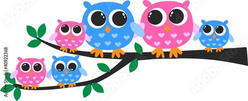 cute owl family