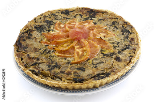 vegetable baked quiche