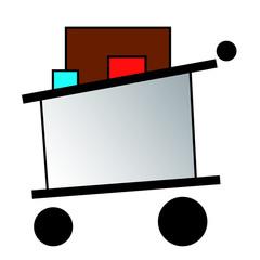 Logo caddie commerce, supermarché, hypermarché