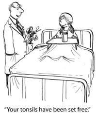 Doctor Removes Girl's Tonsils