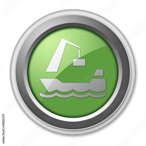"Green 3D Style Button ""Harbor"""