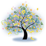 Tree of Wealth (vector) poster