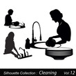 Dish Washing silhouette