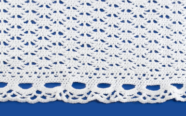Knitting white lace
