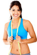 Fit woman with tape measure